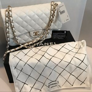 Authentic white Chanel bag